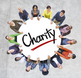 Multi-Ethnic Group of People and Charity Concepts Stock Photos
