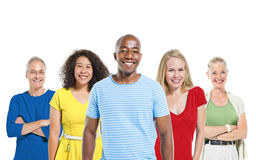 Multi-ethnic group people Cheerful Smiling Concept Royalty Free Stock Images