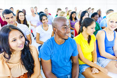 Multi-ethnic group people Communication Concept Stock Photos