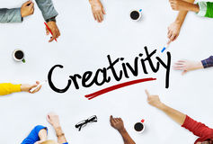 Multi-Ethnic Group of People and Creativity Concepts Stock Photography