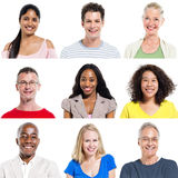 Multi-Ethnic Group Of People Expressing Positivity Stock Photography