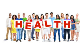 Multi-Ethnic Group Of People Holding Health Stock Images
