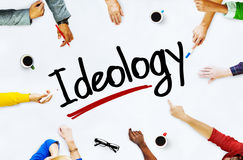 Multi-Ethnic Group of People and Ideology Concept Royalty Free Stock Image