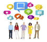 Multi-Ethnic Group of People and Internet Concepts Stock Photo