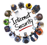 Multi-Ethnic Group of People and Internet Security Concept Stock Photos