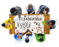 Multi-Ethnic Group of People and Leadership Concepts.  stock image