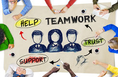 Multi-Ethnic Group of People Planning and Teamwork Concepts Royalty Free Stock Photography