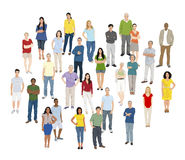 Multi-Ethnic Group People Standing Cheerful Concept Royalty Free Stock Images