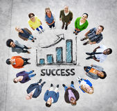 Multi-Ethnic Group of People and Success Concepts Stock Photo
