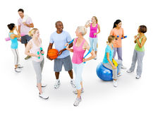 Multi-Ethnic Group of People Working Out Stock Photos