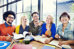 Multi-Ethnic Group of People Working Together Royalty Free Stock Photo