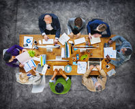 Multi-Ethnic Group of People Working Together Stock Images