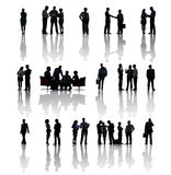 Multi-Ethnic Group Silhouettes Of Business People Royalty Free Stock Photography