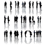 Multi-Ethnic Group Silhouettes Of Business People Stock Photography