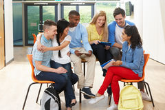 Multi-Ethnic Group Of Students In Classroom Royalty Free Stock Photo