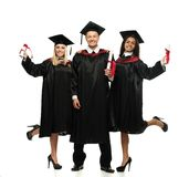 Multi ethnic group of students Stock Image