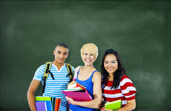 Multi-Ethnic Group of Students Royalty Free Stock Photos