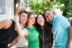 Multi-ethnic group of succesful adults. Royalty Free Stock Images