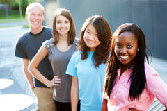 Multi-ethnic group of teenagers Royalty Free Stock Photography