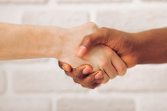 Multi ethnic hands Stock Images