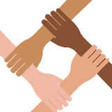 Multi ethnic hands teamwork unity Royalty Free Stock Photography