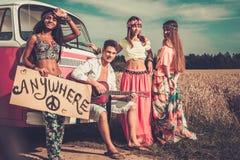 Multi-ethnic hippie friends Stock Image