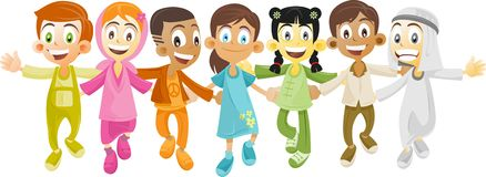 Multi ethnic kids royalty free stock photos