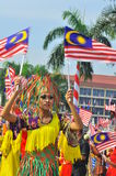 Multi ethnic Malaysia with the national flags stock photos