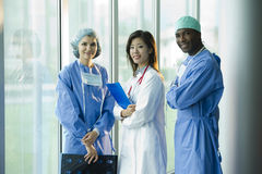 Multi-ethnic medical team Stock Photos