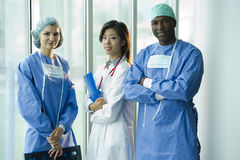 Multi-ethnic medical team Royalty Free Stock Photos