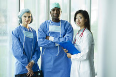 Multi-ethnic medical team Stock Image
