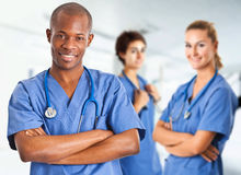 Multi ethnic medical team Stock Image
