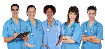 Multi-ethnic medical team Stock Images