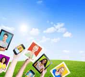 Multi-Ethnic People in Electronic Devices Royalty Free Stock Photo