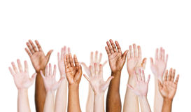 Multi-Ethnic People's Arms Outstretched Royalty Free Stock Photos