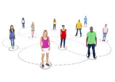 Multi-Ethnic People and a Social Networking Concept Stock Photo