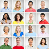 Multi-ethnic Portraits. Collection of multi-ethnic portraits stock photos