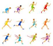 Multi ethnic run man. vector illustration