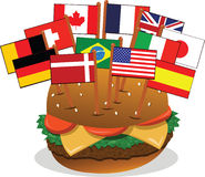 Multi-Ethnic Sandwich Stock Photos