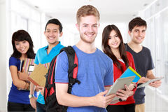 Multi ethnic student in unity Stock Photos