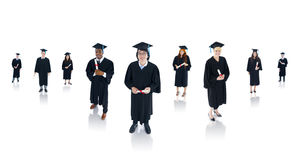 Multi-Ethnic Successful Graduating Students Stock Photos