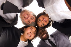 Multi-ethnic team. In white background Stock Photos