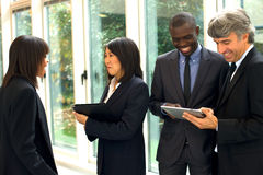 Multi-ethnic team. In office Royalty Free Stock Image