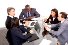 Multi-ethnic team during a meeting Royalty Free Stock Image