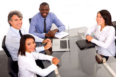 Multi-ethnic team during a meeting Royalty Free Stock Photography