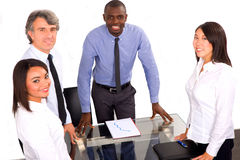 Multi-ethnic team during a meeting. In office Royalty Free Stock Photos