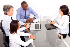 Multi-ethnic team during a meeting Royalty Free Stock Photo