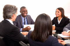 Multi-ethnic team during a meeting Royalty Free Stock Images