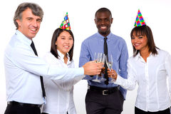 Multi-ethnic team toasting Royalty Free Stock Image