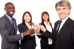 Multi-ethnic team toasting Stock Photo